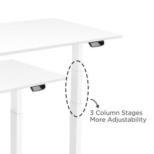 E-Desk column electric height adjustability