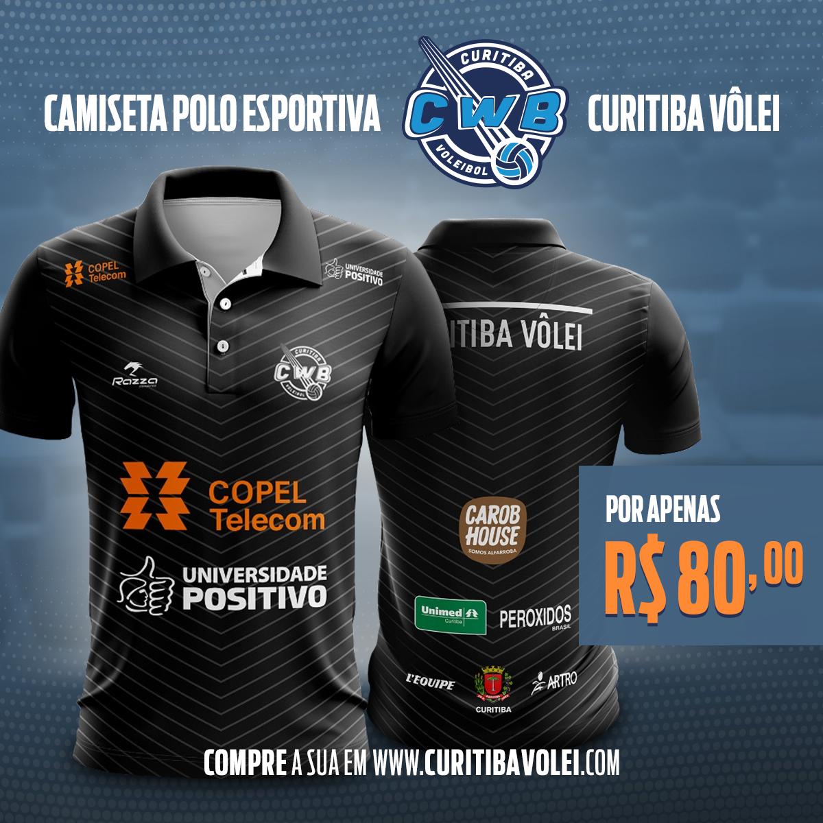 PROMOÇÃO - Camisa Pólo Oficial Curitiba Vôlei + 1 Ingresso a281d02ecff