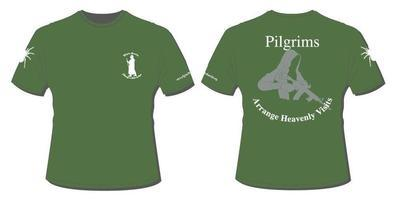 Cotton T shirt Green Pilgrims Heaven