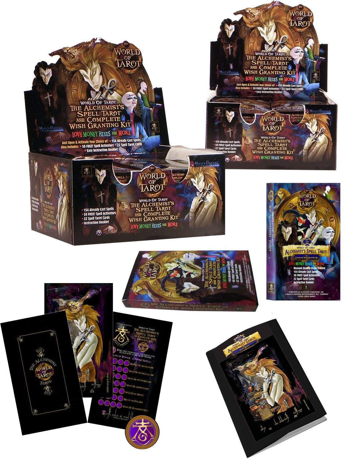 The Alchemist's Spell Tarot & Complete Wish Granting Kit - 10-Deck Counter  Display