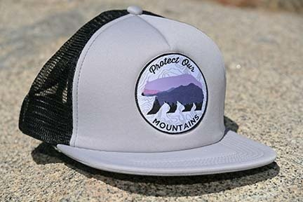 Gray Protect Our Mountains Trucker Hat 00005