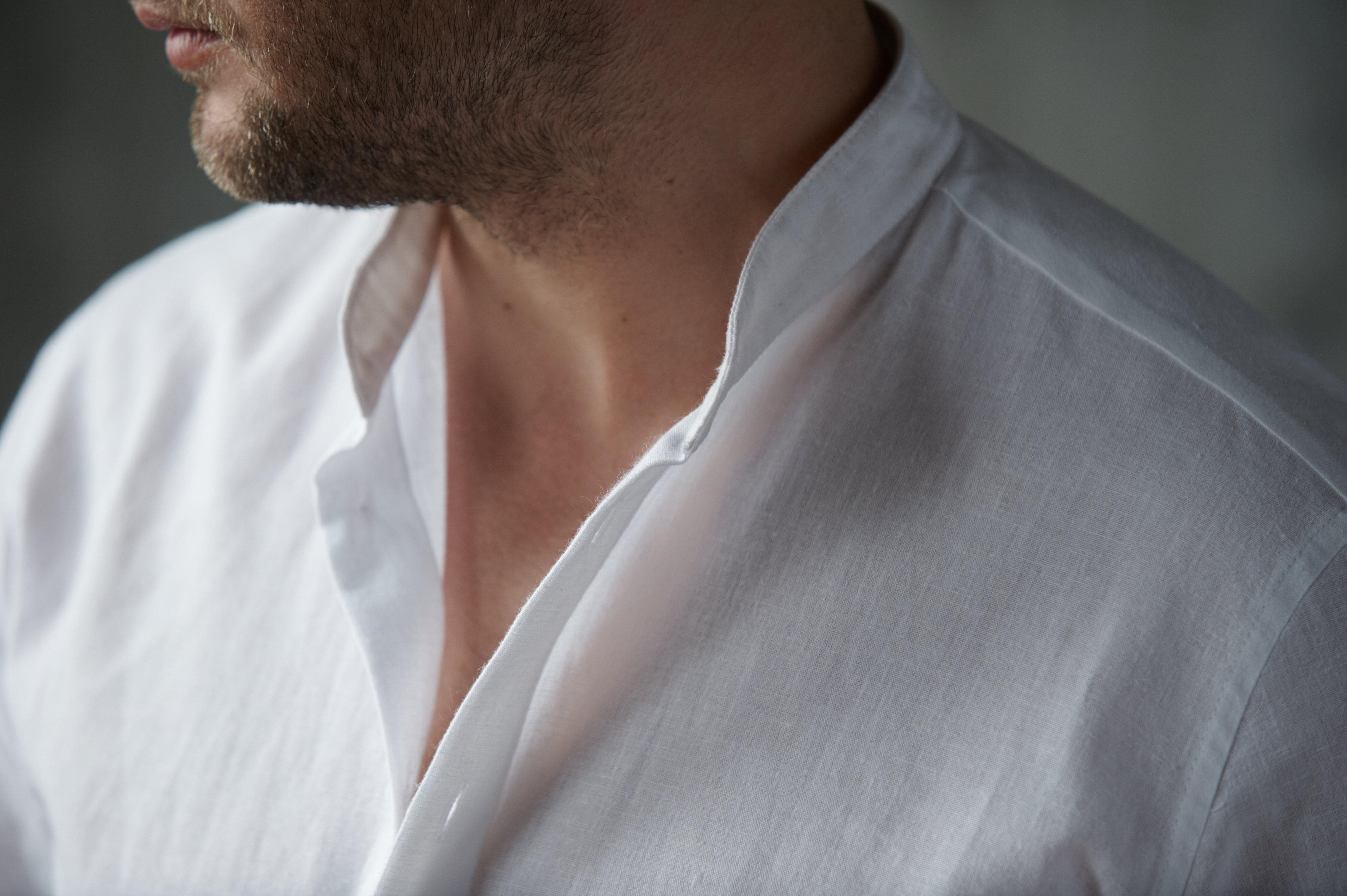 Сорочка лён белая