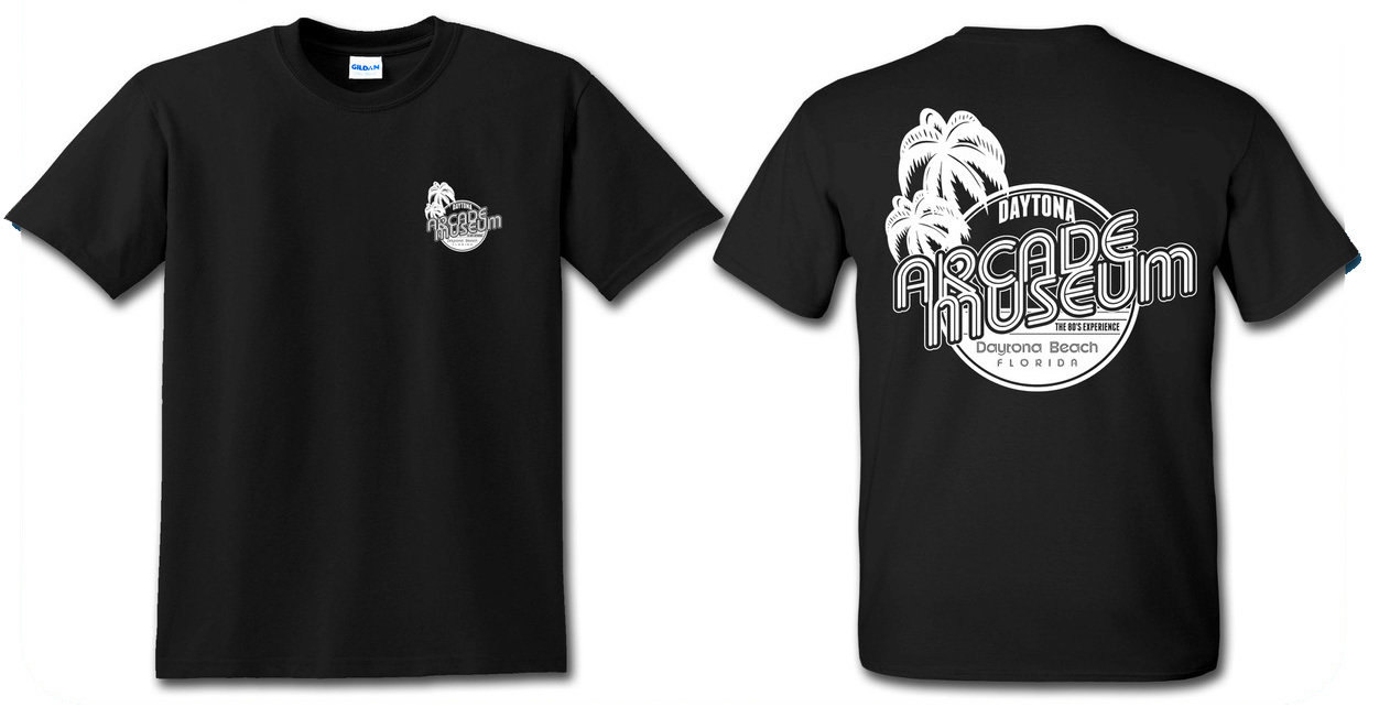Daytona Arcacde Museum Black T-Shirt 0001