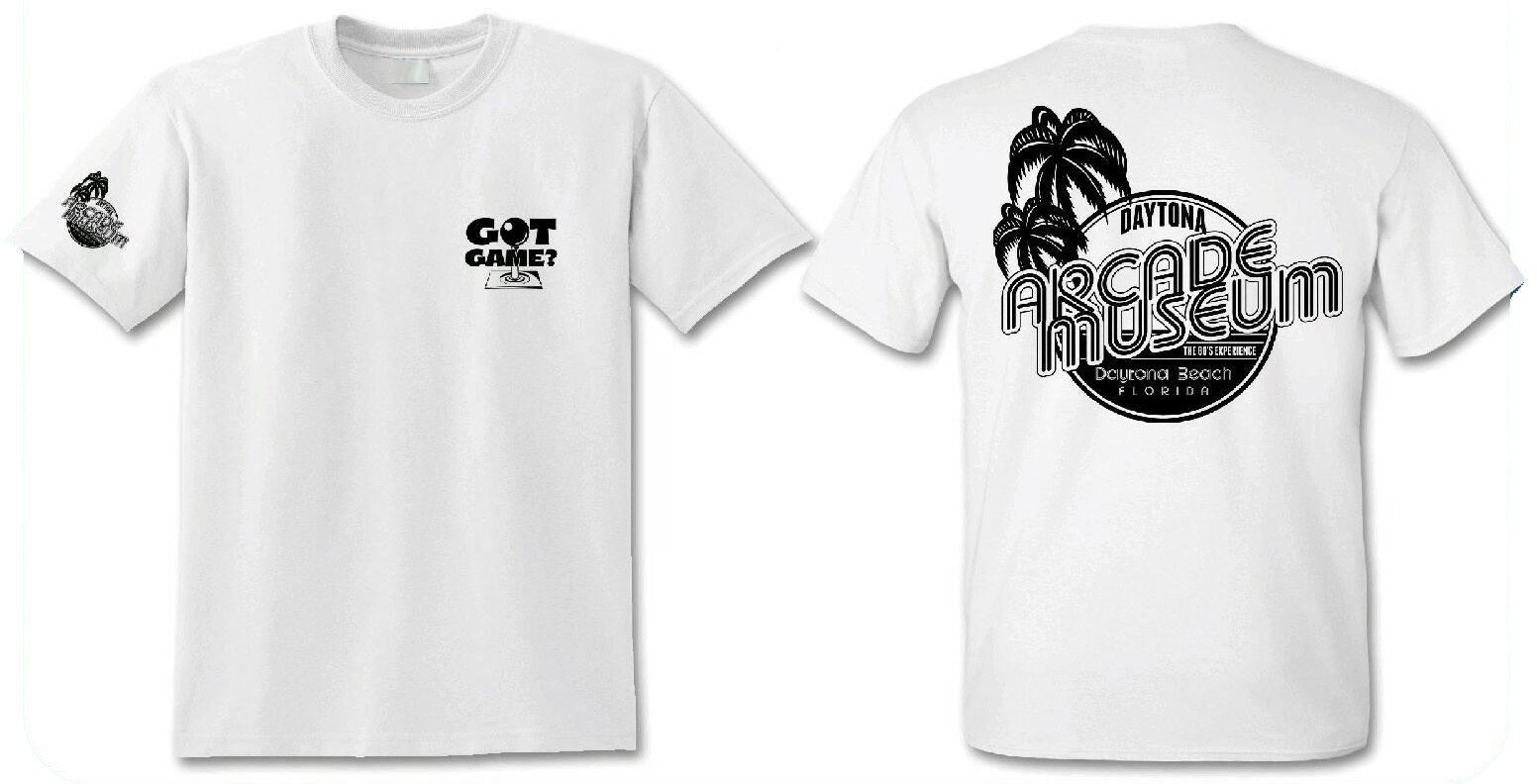 Daytona Arcacde Museum White T-Shirt 00002