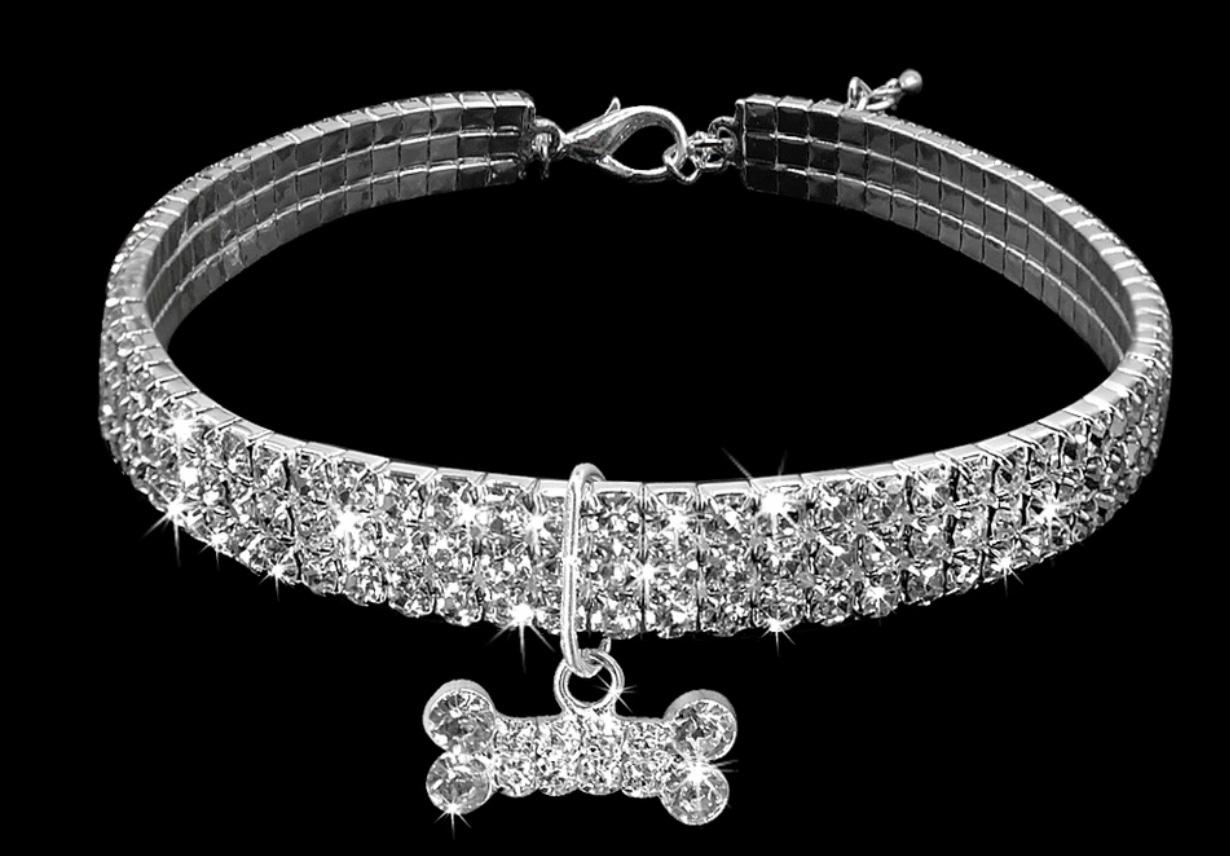 Diamante Dog Collar 00000