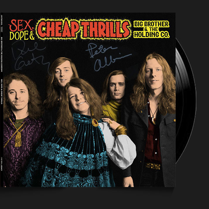SIGNED ALBUM BY DAVE GETZ AND PETER ALBIN. Sex, Dope & Cheap Thrills, 2018, 2-LP 0001