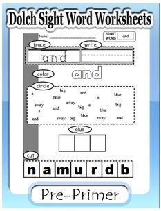 Dolch second grade - sight word worksheets