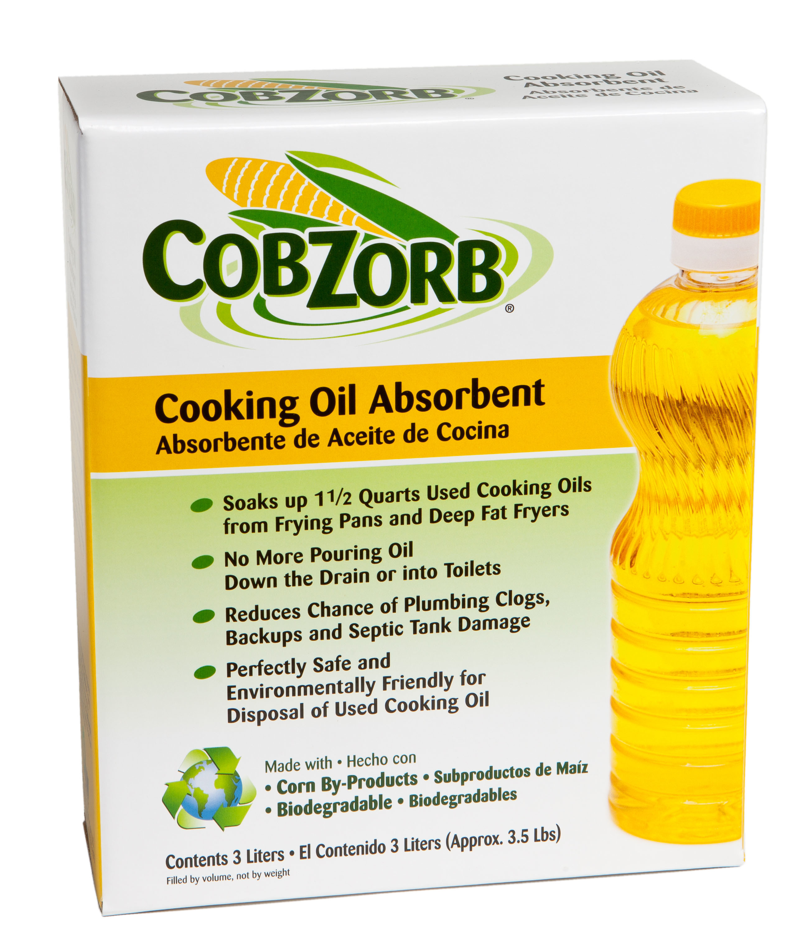 CobZorb® Cooking Oil Absorbent CZO-box 3.5-DS