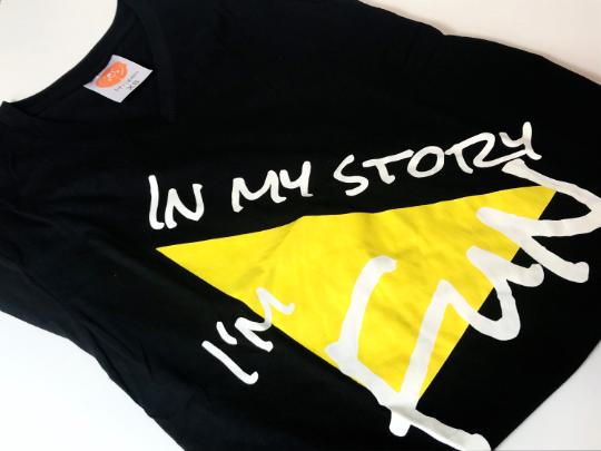 Black V-Neck T-Shirt 00003