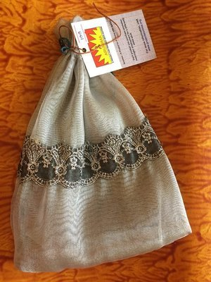 Potli Gift Bag - Gold with Lace