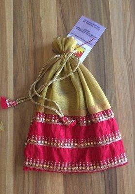 Potli Gift Bag Pink and Gold 2