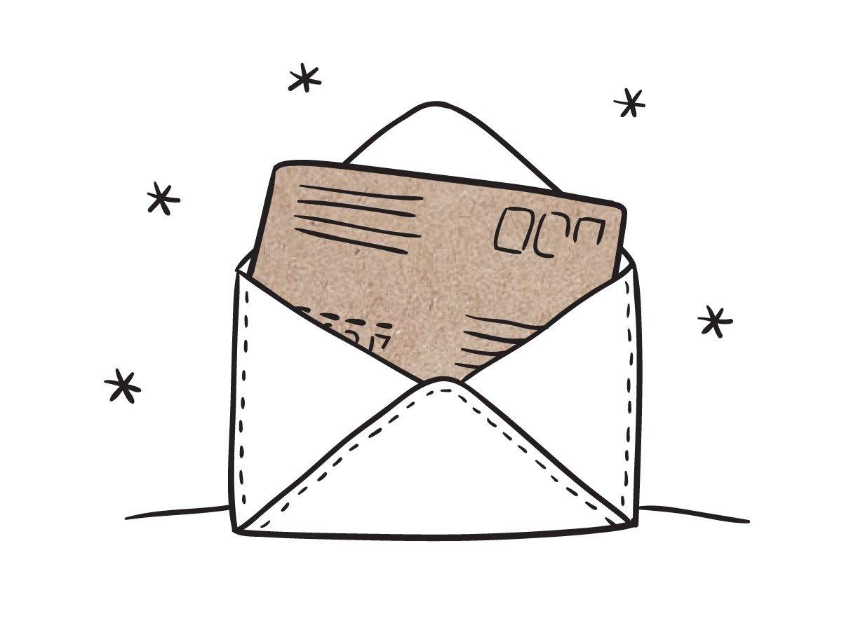 Внешний конверт. Отправка письма на иной, отличный от получателя адрес. 00095