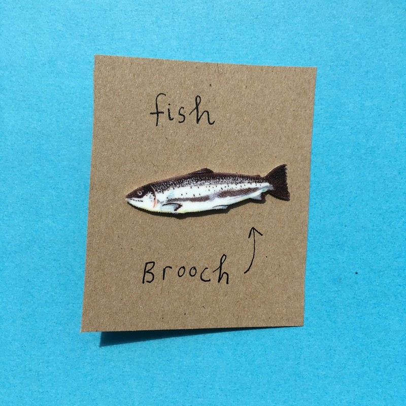FISH BROOCH  Shipping included!