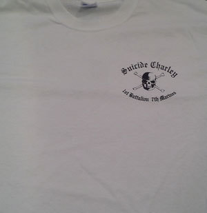 Suicide Charley Short Sleeve T-Shirt Large (White)