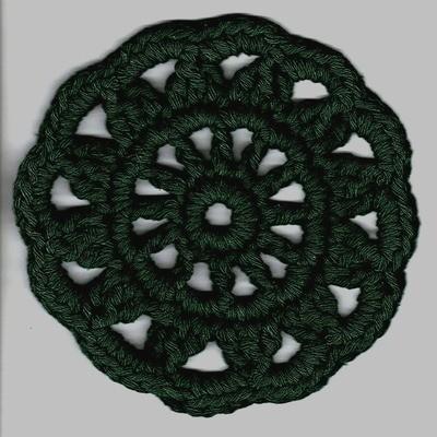 Rosetti-pannunalunen (tumma vihreä)