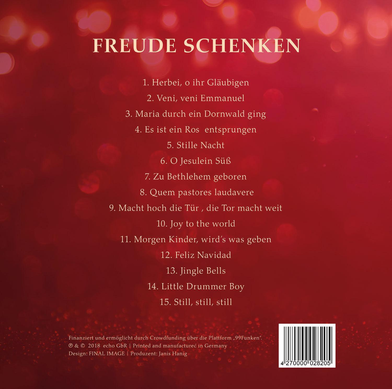 """Weihnachts-CD """"Freude schenken"""""""