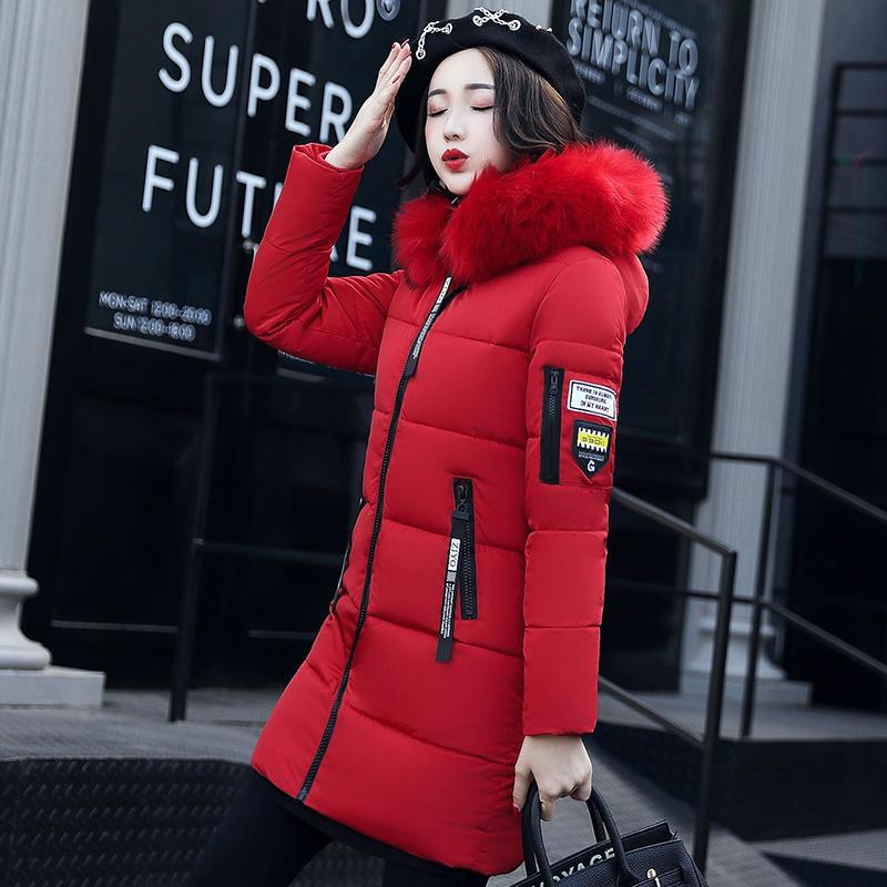 Women Mid-long Thicken Warm Hooded Jacket