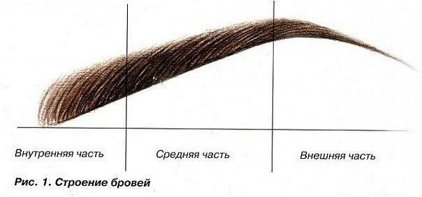 Палетка для коррекции бровей