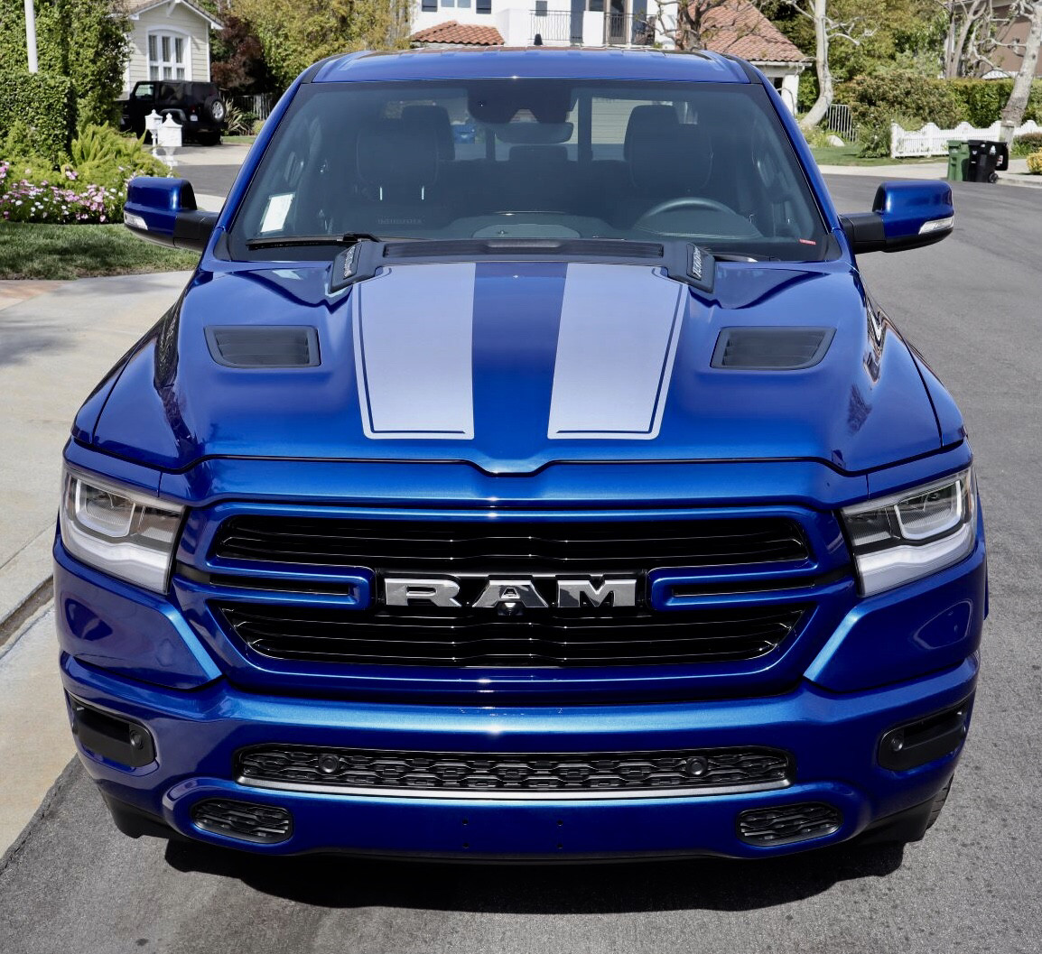 2019 Ram 1500: Up Ram 1500 Rebel / Sport Hood Hockey Decals