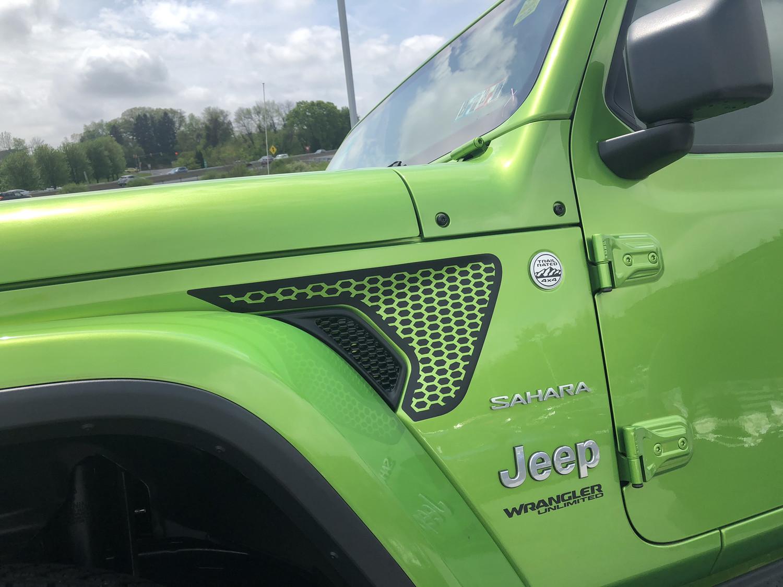 Wrangler Jeep Jl Jlu Gladiator Fender Vent Blackout Graphics