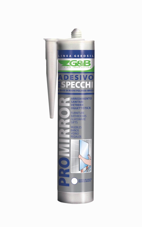 Adesivo Per Vetrai g&b adesivo per specchi 310ml bianco