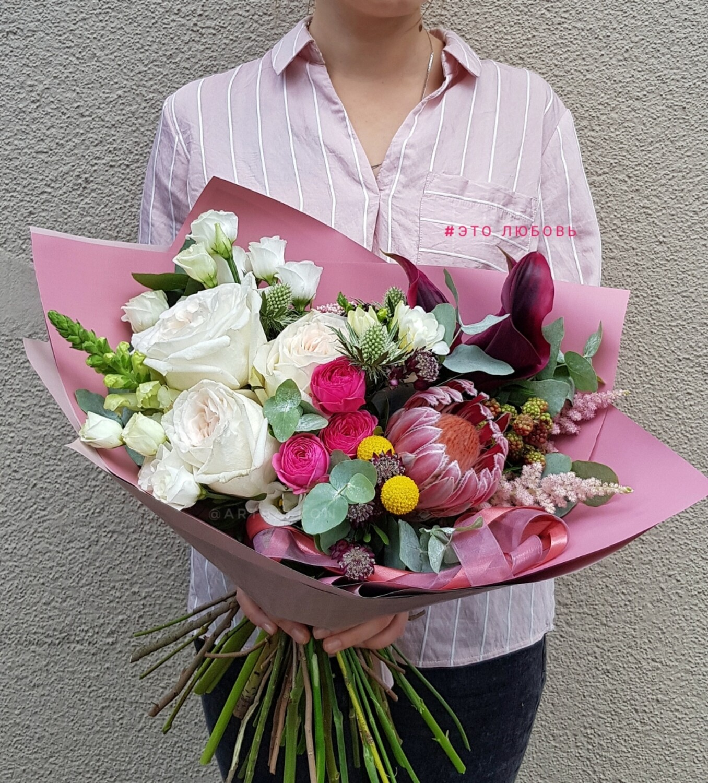Магазин цветов, магазин авторский букет эрнста