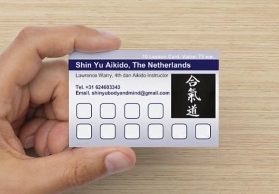 10x Lesson Card Aikido 00000