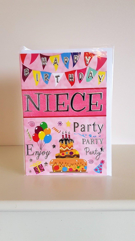 happy birthday niece pink card
