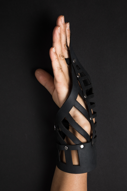 leather bracelet-left hand (one of kind)