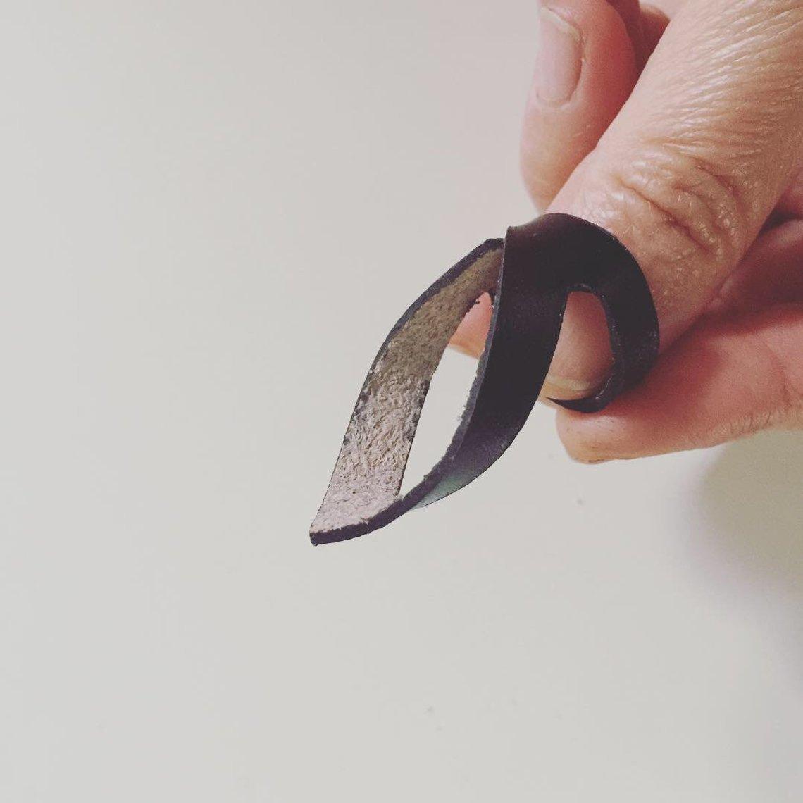 Minimalist leather ring