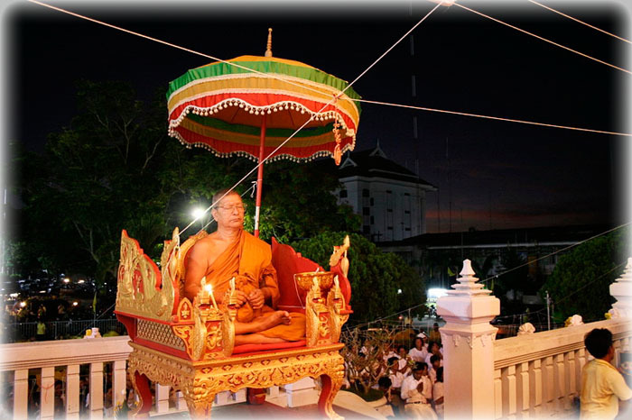 Luang Por Prohm in Blessing Ceremony - Thailand Amulets
