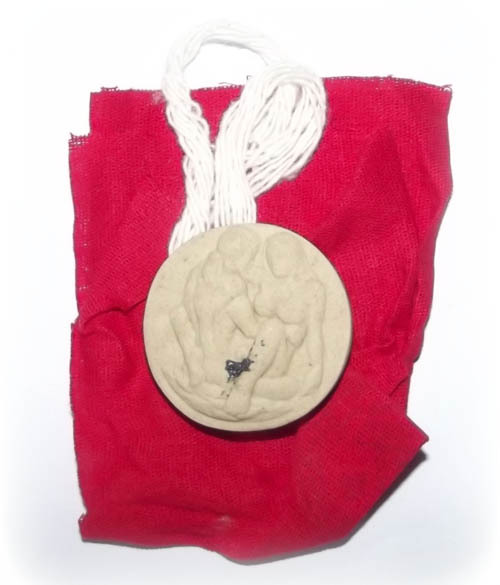 the amulet comes wrapped within a Yantra Cloth