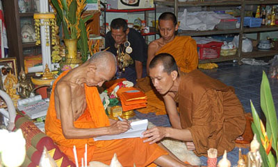 LP Ruay (Wat Tako) with LP Raks