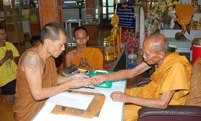 Luang Por Pian with Luang Por Raks