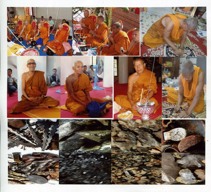Luang Por Prohm and other great Khao or Masters blessing amulets and Lek Lai Kaya Siddhi elemental substance