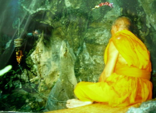 Luang Por Huan Summoning Lek Lai withiin the Holy Cave Shrine