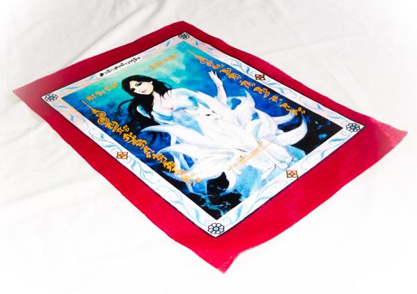 Tails fox sacred Yantra cloth (Pha Yant)