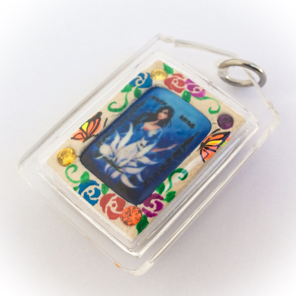 Nang Jing Jork Gao Hang Nine Tailed Fox Locket in rear face of amulet