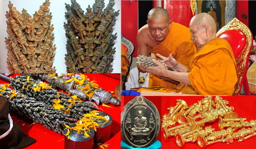 Inspection of the Chor trees and Taw Waes Suwan Thai Buddhist Amulets