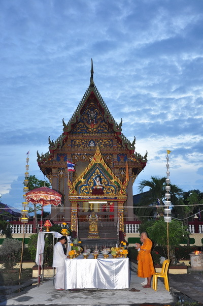 Ceremony to invite the Devas to Attend and Bless Taw Waes Suwan Thai Buddhist Amulets by Luang Por Foo of Wat Bang Samak