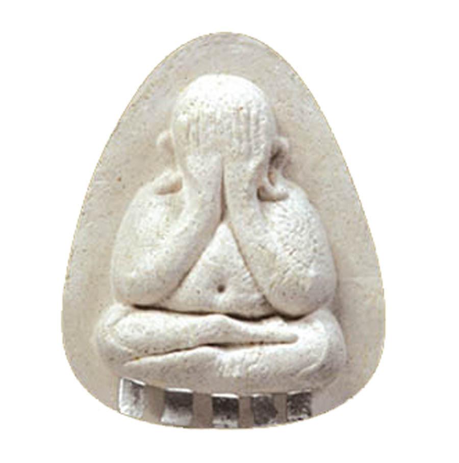 Pra Pid Ta Hlang Yant Na Duang Boran Thai Buddhist Amulet