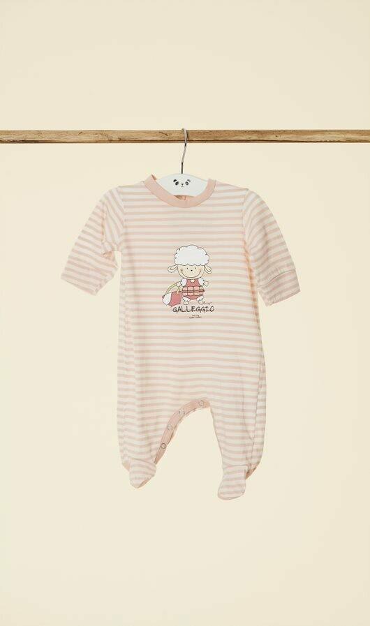 Pyjama voor meisjesbaby, in fleece met drukknopen aan de