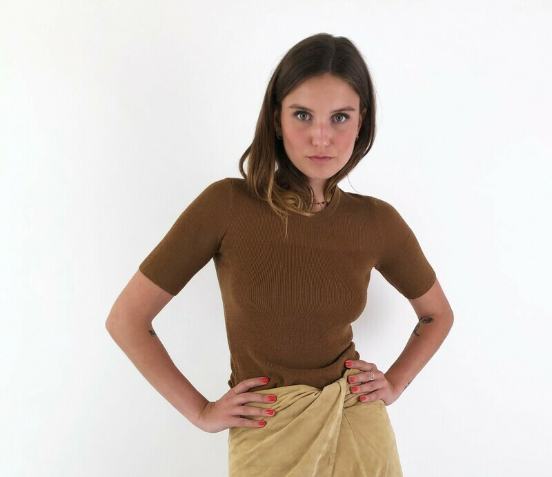 Calvin Klein ribbed knit top