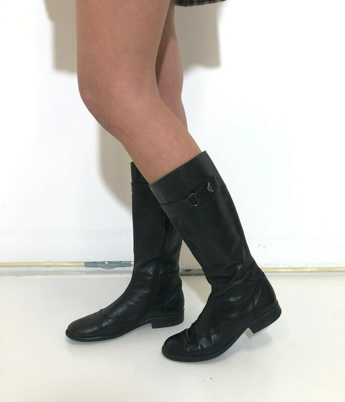 Giorgio Armani Biker Boots Knee High
