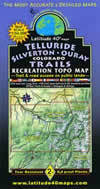 Latitude 40 - Telluride Silverton Ouray Topo Map