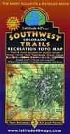 Latitude 40 - Southwest Colorado Recreation Topo Map
