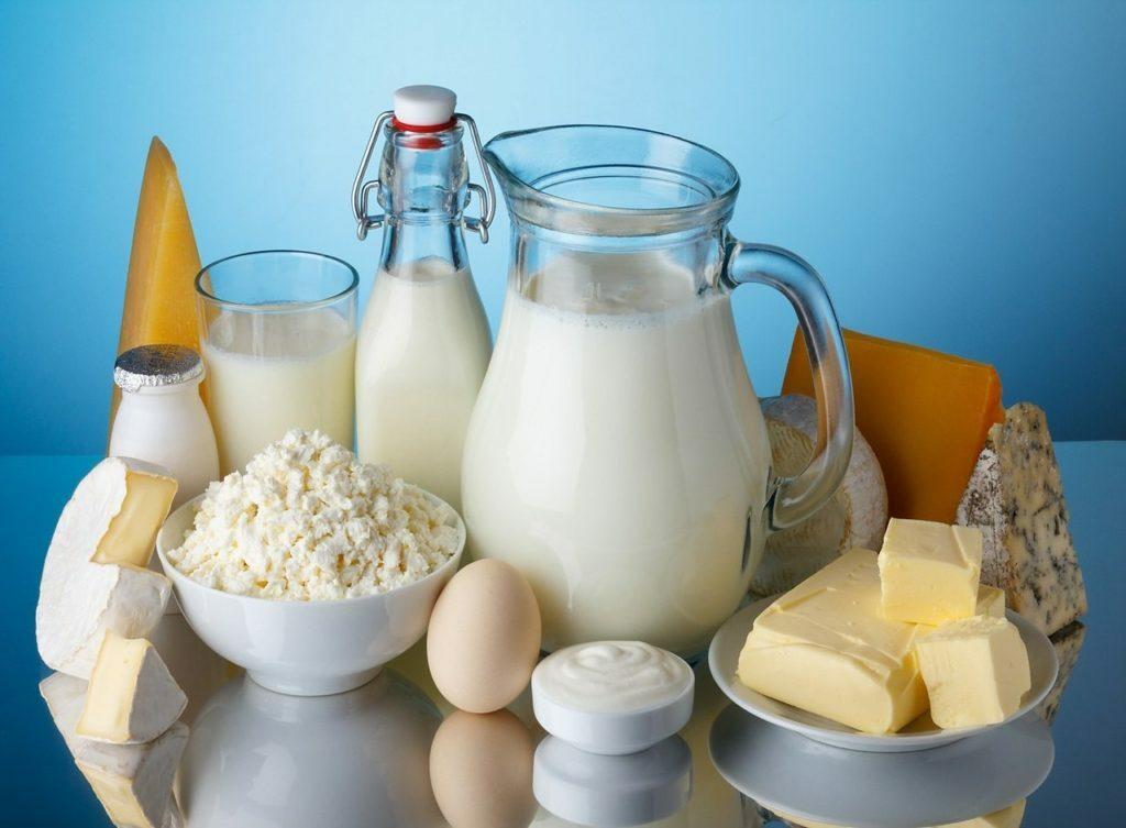 Картинка с молочными продуктами, чашечка кофе