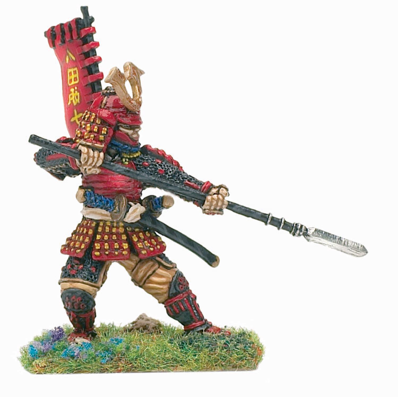 Samurai defending with yari