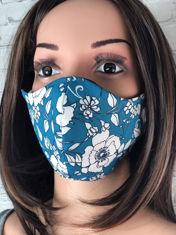 10Pcs Floral Lace Disposable Face Masks Breathable 3-Layer
