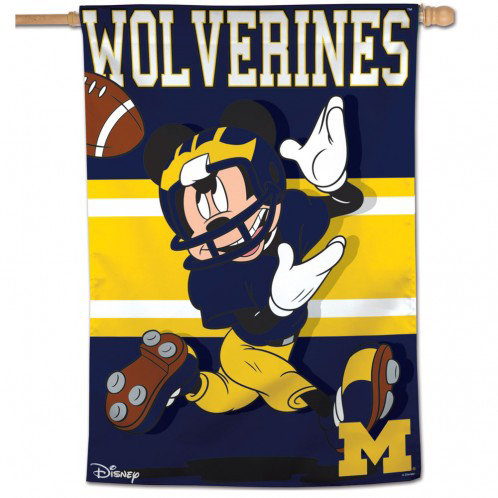 Michigan Mickey Mouse Vertical Banner Coman Publishing Co